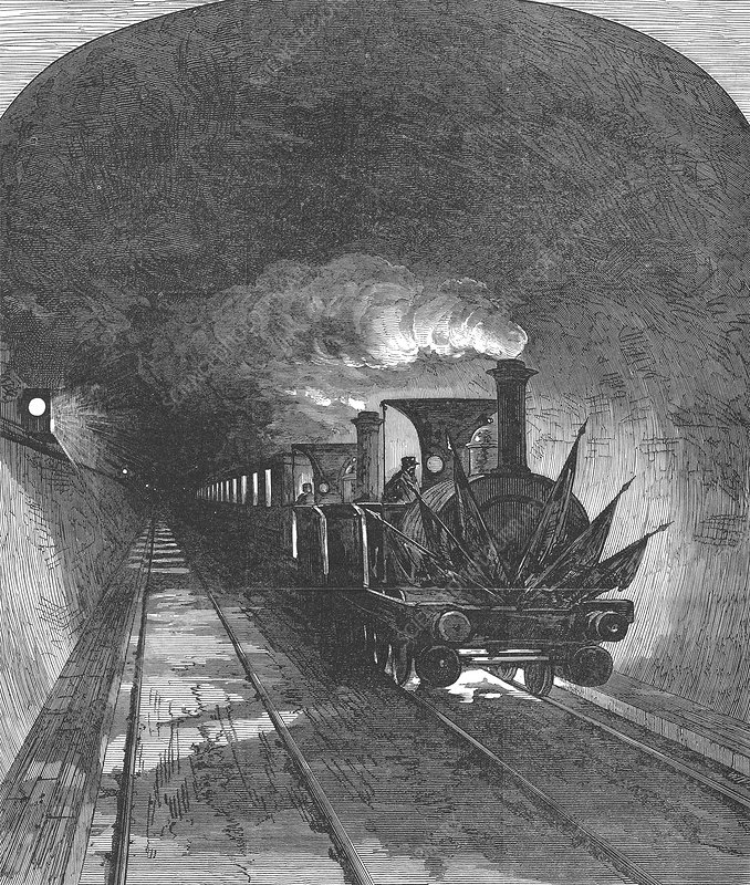 Opening of the Mont Cenis railway tunnel