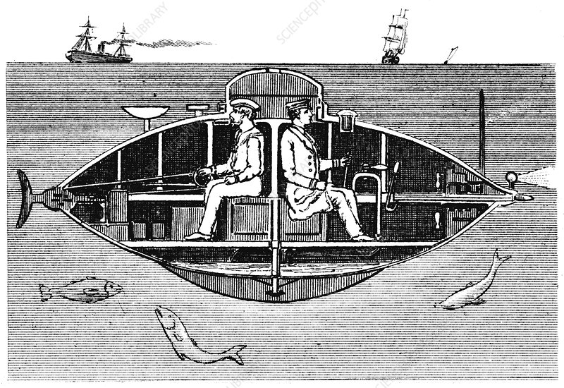 Goubet II, French electrically powered submarine