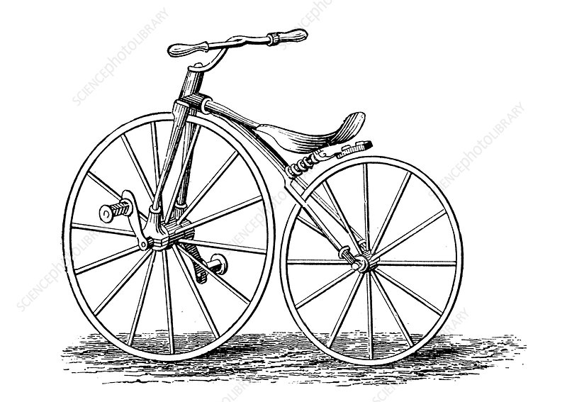 Pickering's crank-pedal-driven bicycle, an American design