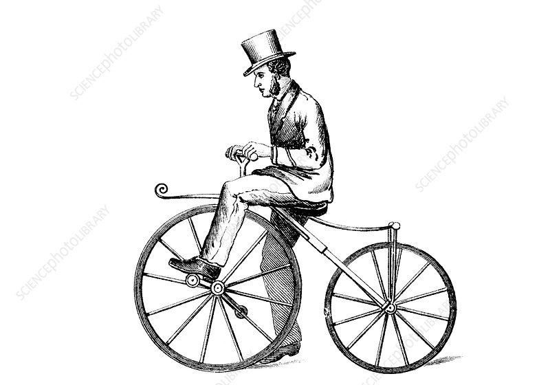 Boneshaker' bicycle, c1870
