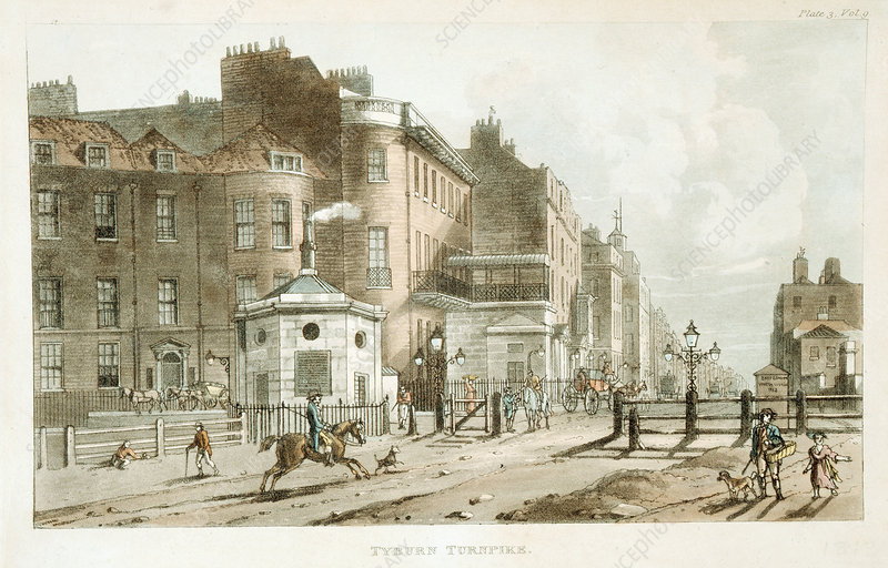 Tyburn Turnpike, Paddington, London, 1813