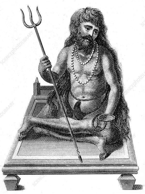 A Yogi meditating, 1811