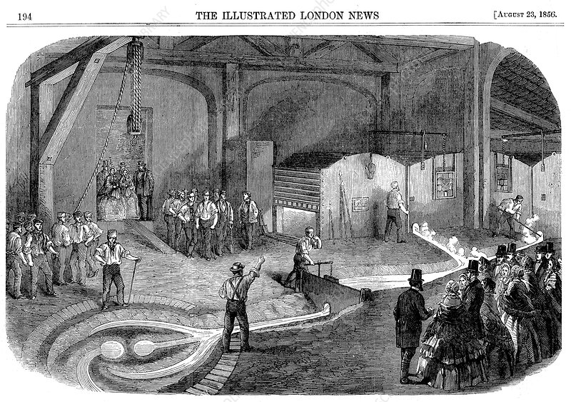 Casting the bell for the Westminster Clock Tower, 1856