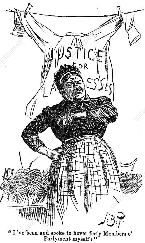 Laundresses strike, 1891