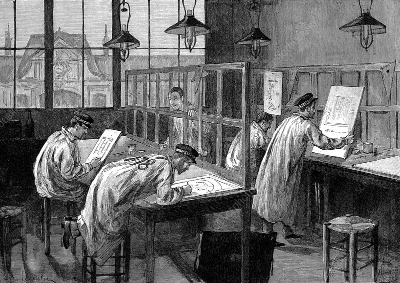 Students at l'Ecole Centrale des Arts et Manufactures, Paris