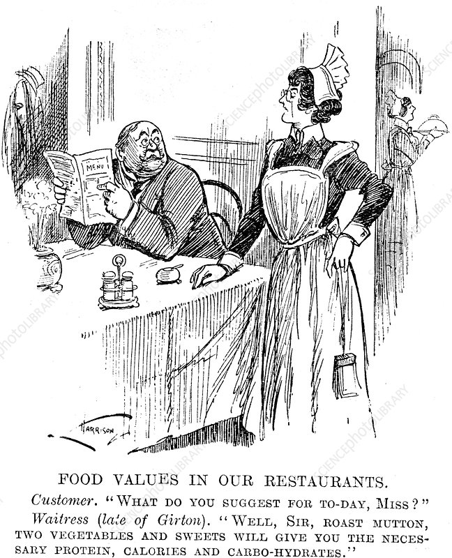 Food Values in our Restaurants', 1917