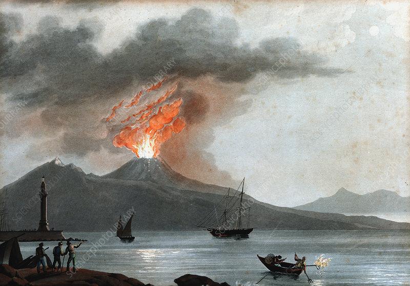 Eruption of Vesuvius, Italy, c1815