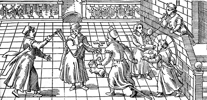 Children's games in the 16th century