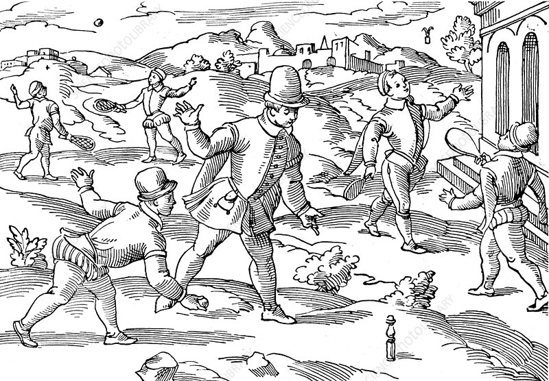 Children's games in 16th century