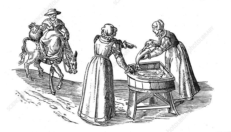 Fish stall in a market, 1572