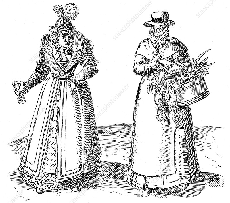 English countrywoman with lady of the Court, 1572