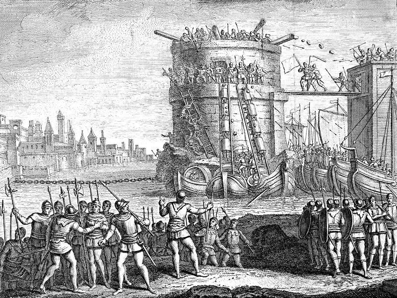 Siege of Damietta, Egypt, 13th century