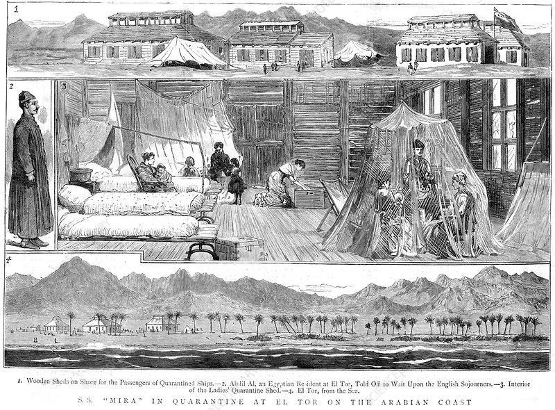 Europeans in a smallpox quarantine camp, North Africa