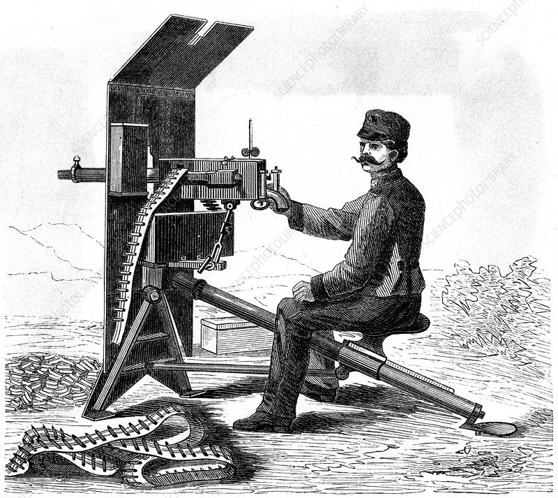 Maxim machine gun, c1895