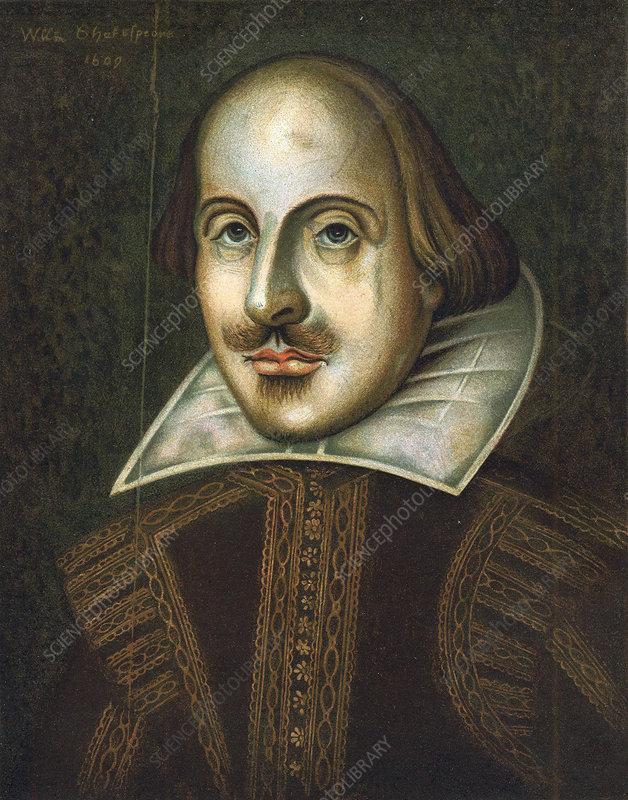 William Shakespeare, English playwright, 1609