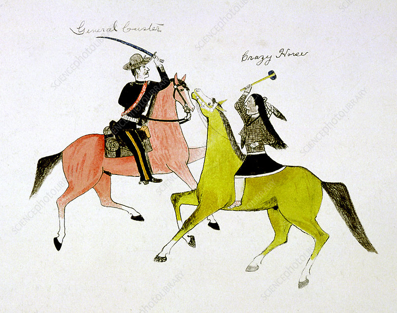 Conflict between General George Custer and Crazy Horse