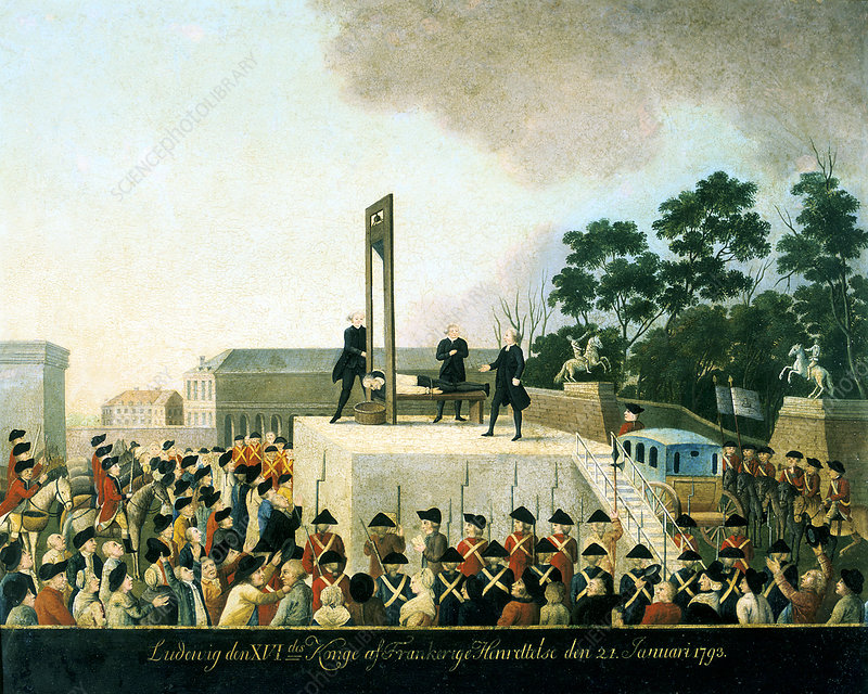 Execution by guillotine of Louis XVI of France, Paris, 1793