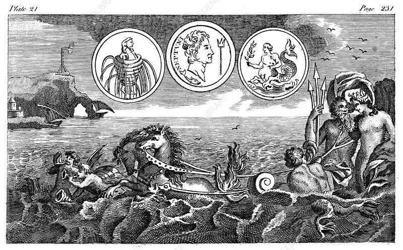 Roman god Neptune, 18th century