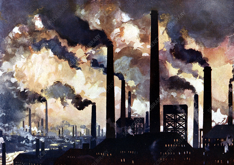 Industrial polltion, Sheffield, Yorkshire, c1925