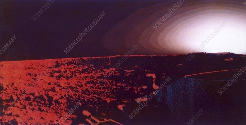 Sunrise on Mars, Viking image
