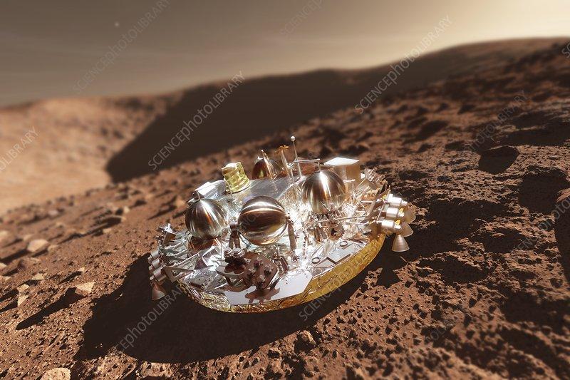 Schiaparelli ExoMars EDM lander on Mars, composite image