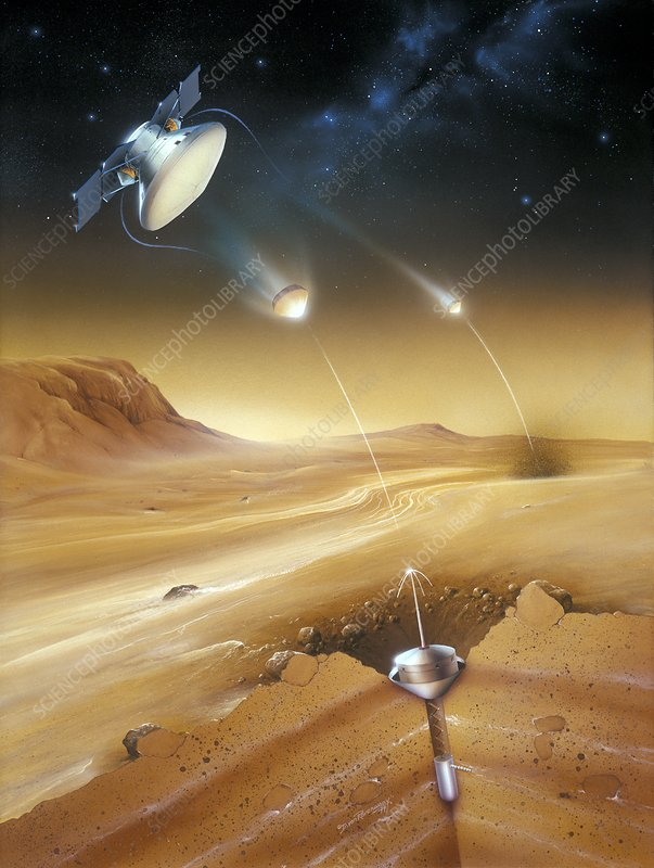 Mars Polar Lander Deep Space 2 Probes, illustration