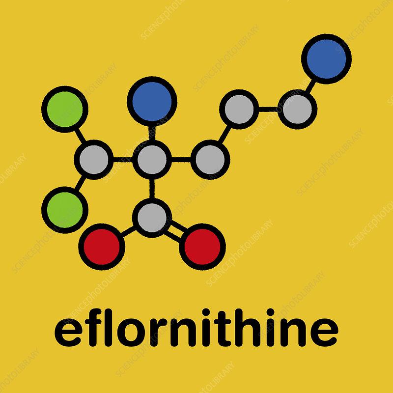 Eflornithine drug molecule
