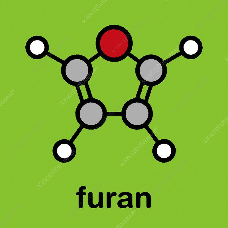 Furan heterocyclic aromatic molecule