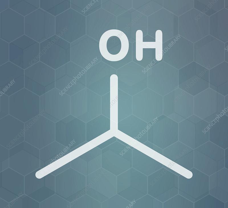 Isopropylalcohol molecule