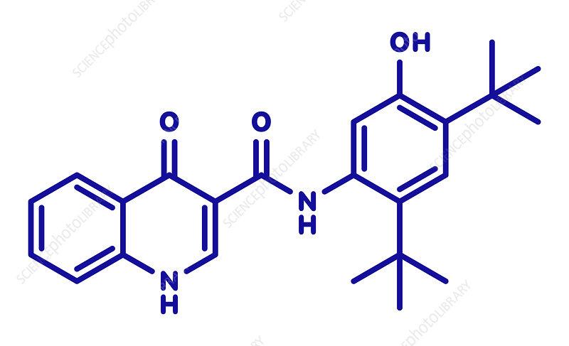 Ivacaftor cystic fibrosis drug molecule