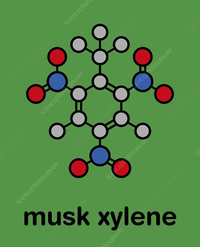 Musk xylene molecule
