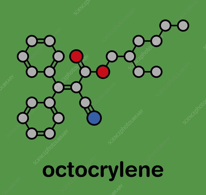 Octocrylene sunscreen molecule