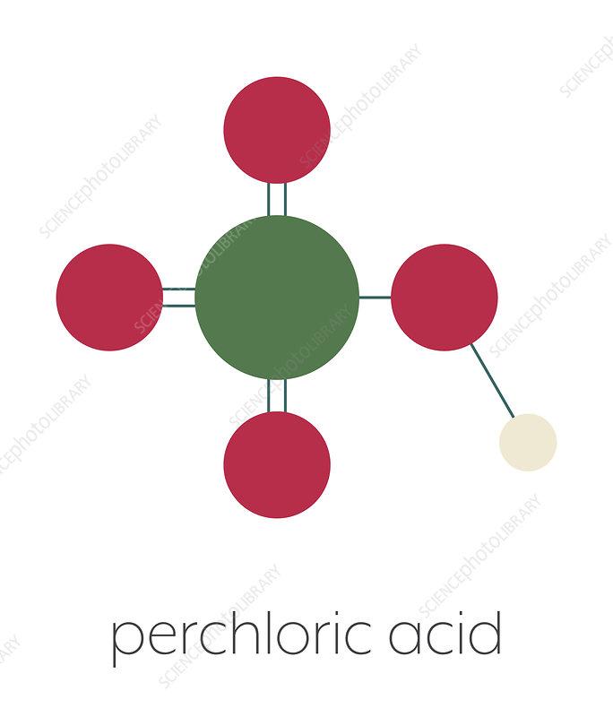 Perchloric acid superacid molecule