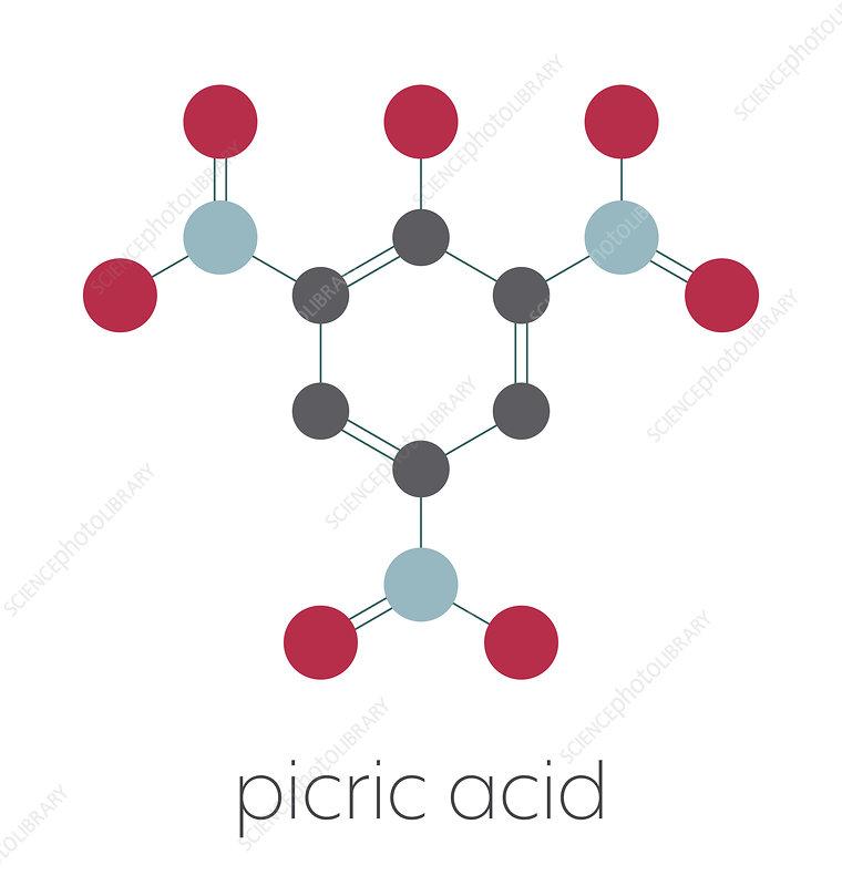 Picric acid explosive molecule