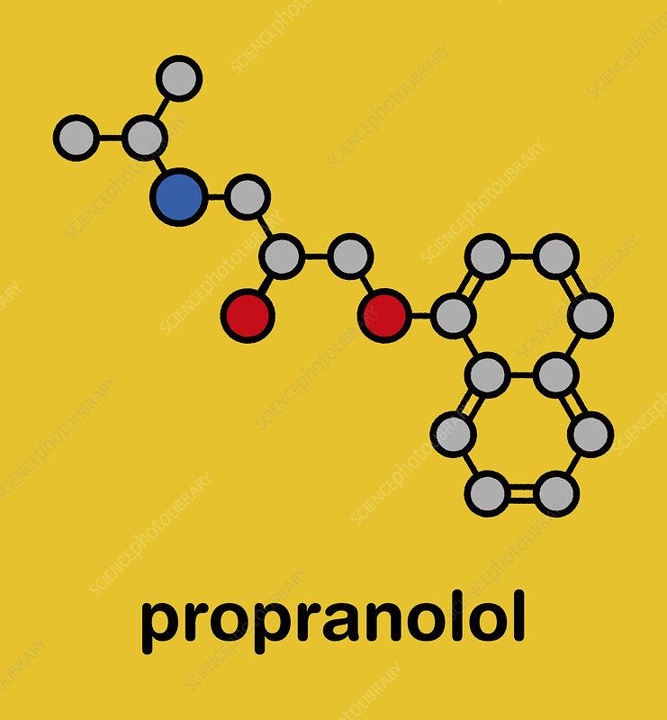 Propranolol high blood pressure drug molecule