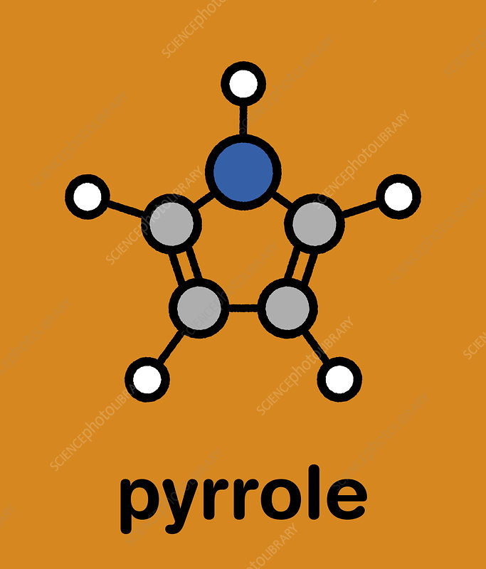 Pyrrole heterocyclic organic molecule