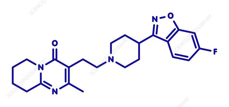 Risperidone antipsychotic drug molecule