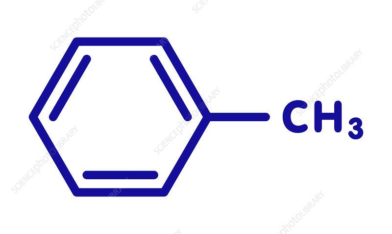 Toluene chemical solvent molecule