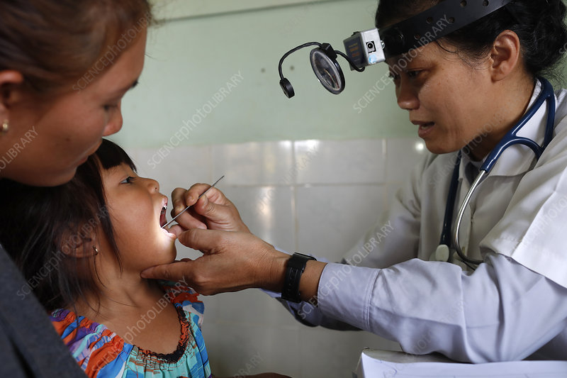 Free health clinic run by the Franciscan Missionaries, Vietn