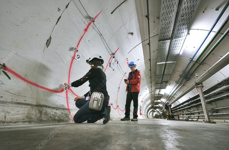 Monitoring Super Proton Synchrotron tunnel at CERN