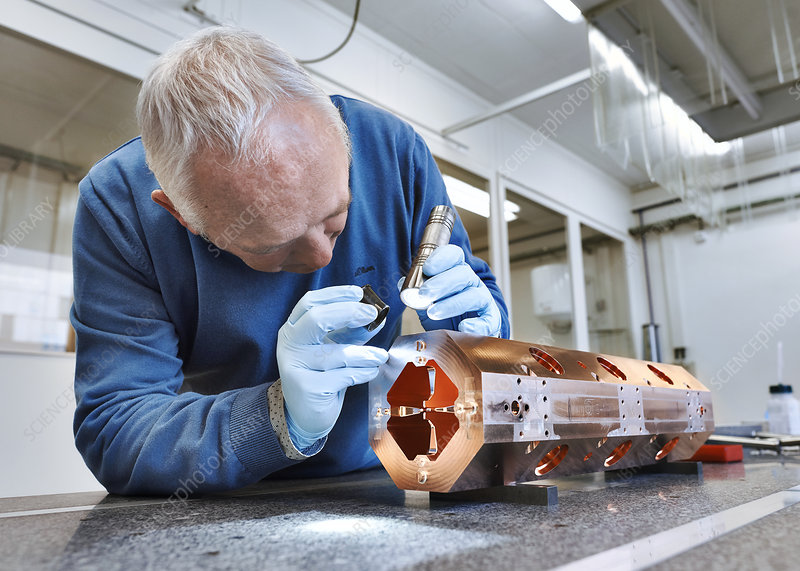 Mini-accelerator display assembly at CERN