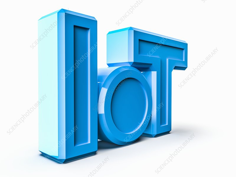 Internet of things logo, illustration