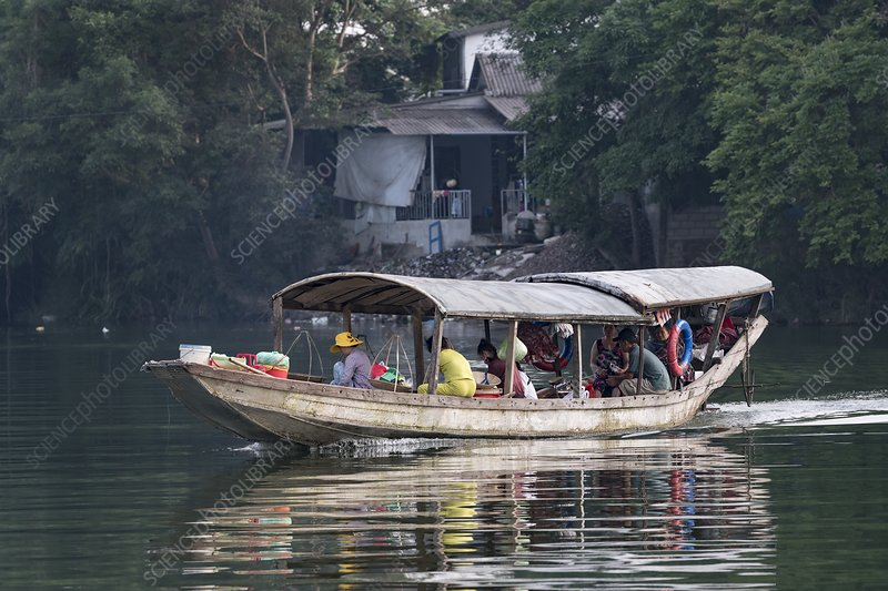Water taxi on the Perfume river, Hue, Vietnam