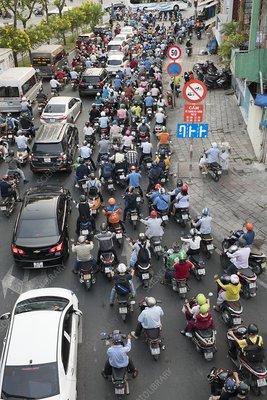Rush hour traffic, Ho Chi Minh City, Vietnam