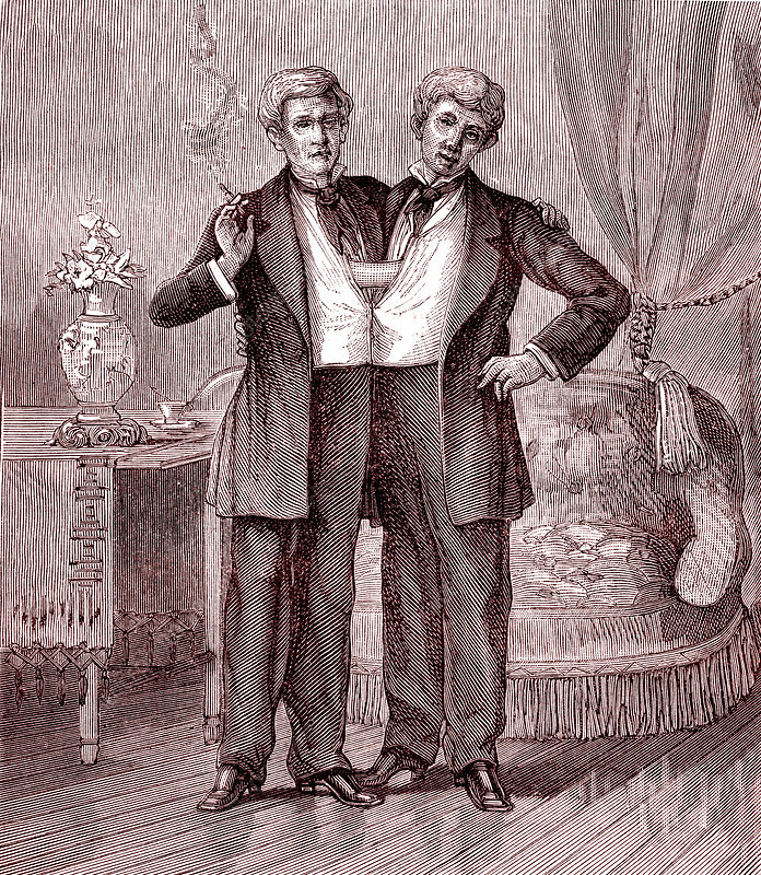 Chang and Eng conjoined twins, 19th century