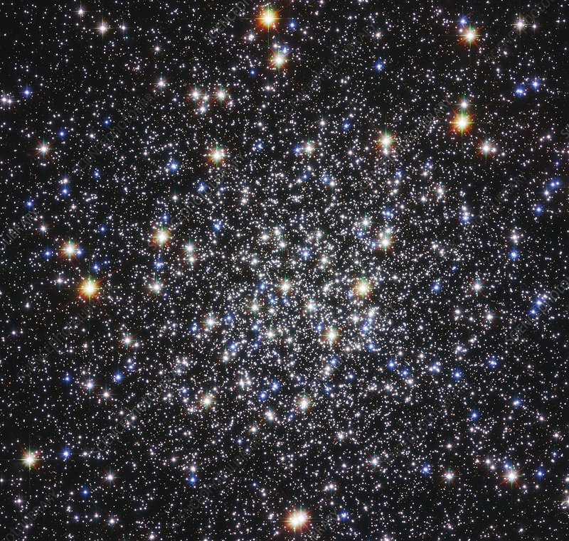 Messier 12 globular star cluster, Hubble image