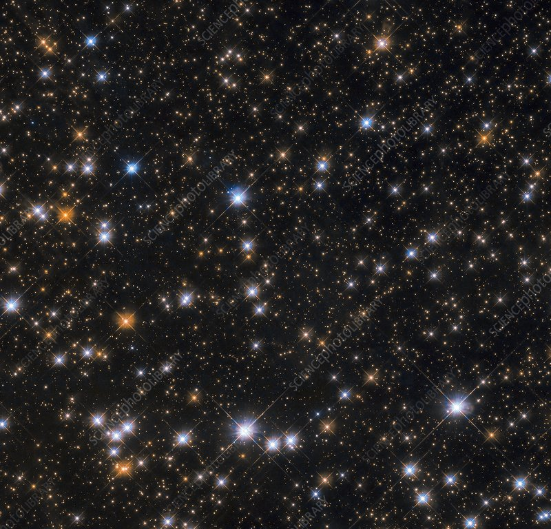 Messier 11 open star cluster, Hubble image