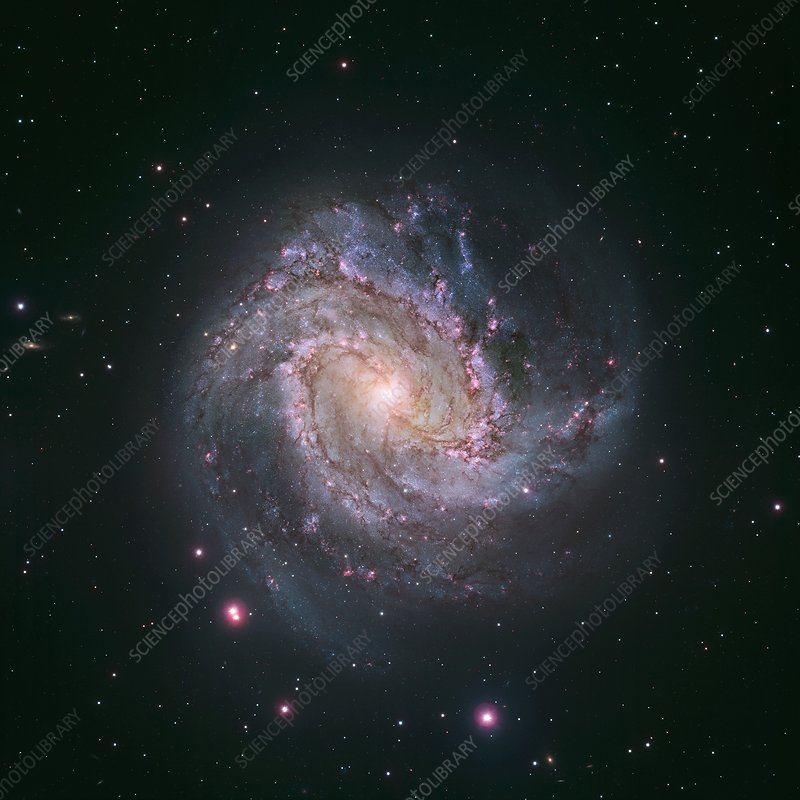 Messier 83 spiral galaxy, Hubble image
