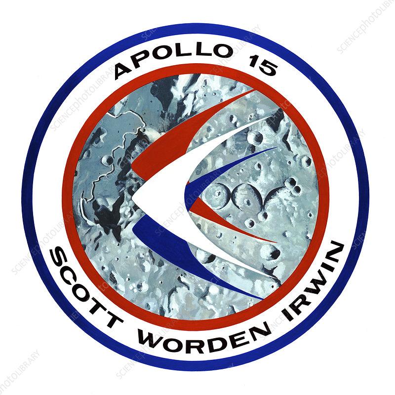 Apollo 15 mission badge, 1971