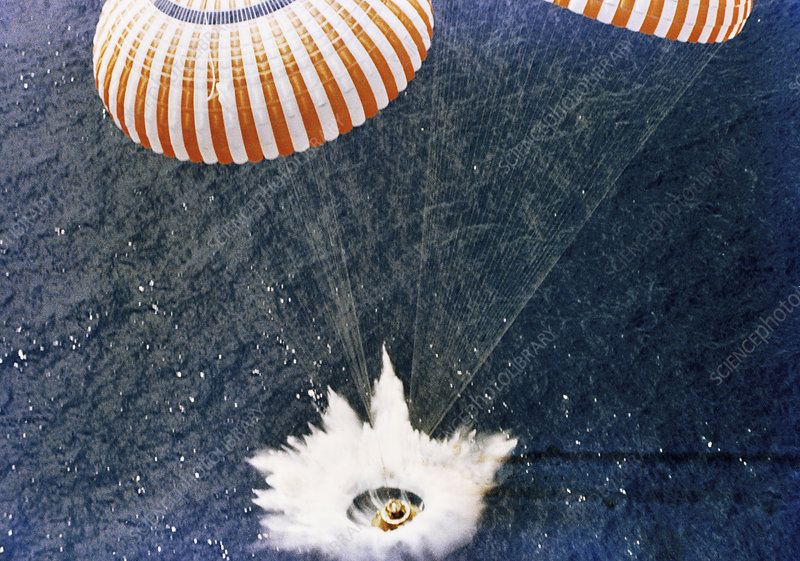 Apollo 15 splashdown, 1971